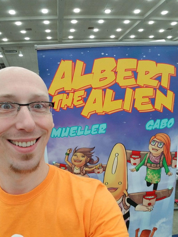 trevor mueller comic writer albert the alien artist alley