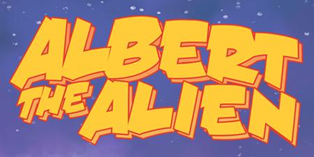 albert the alien comic book logo