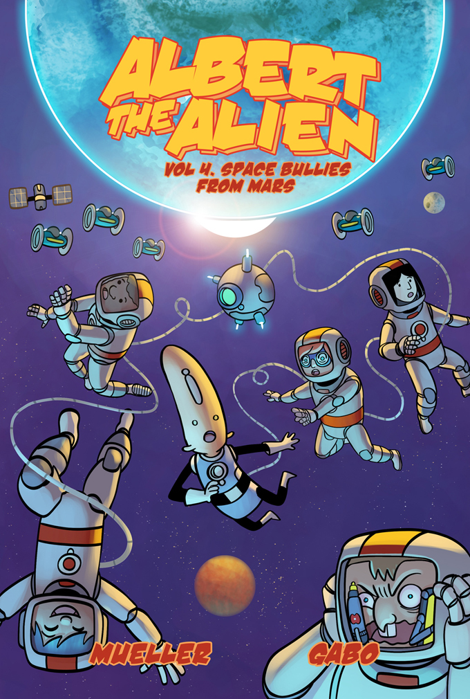 albert the alien volume 4 kids comicbook cover graphic novel art by gabo written by trevor mueller