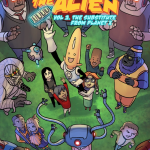 albert the alien volume 2 graphic novel comic book cover art by gabo written by trevor mueller