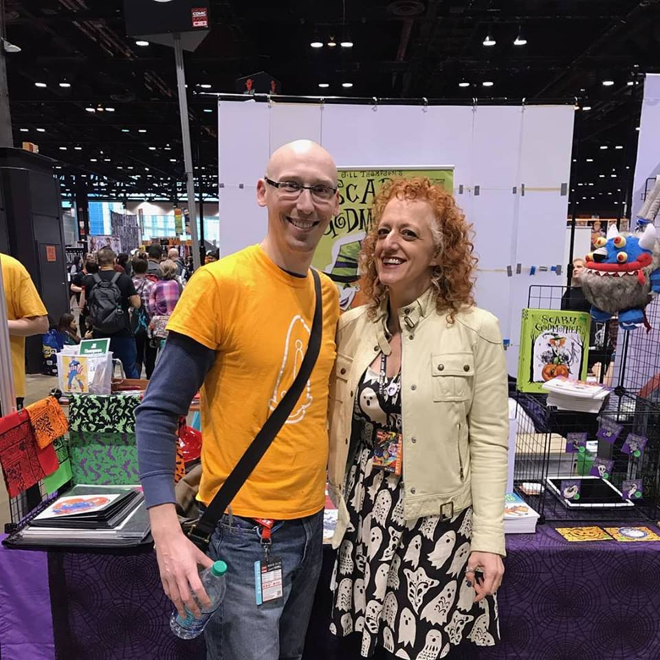 comic creator jill thompson and trevor mueller at c2e2 2019 artist alley