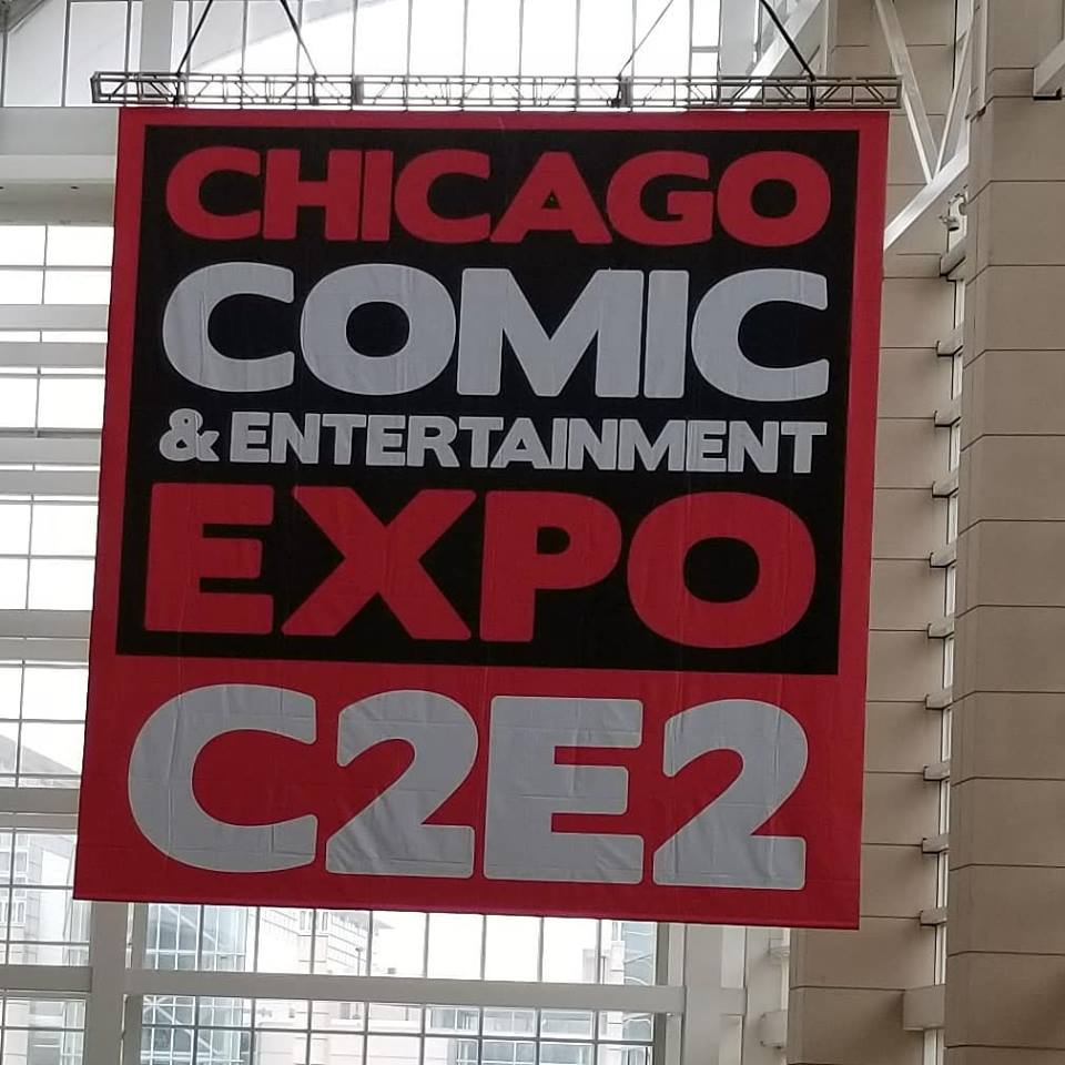 c2e2 2019 display banner chicago comic convention