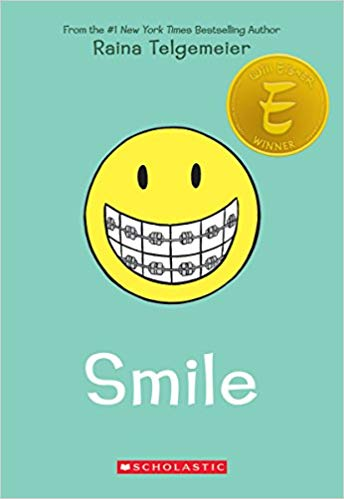 Raina Telgemeier autobiographical best seller smile