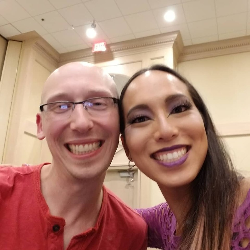 Trevor Mueller and Guinness world record april choi at Anime Midwest 2019