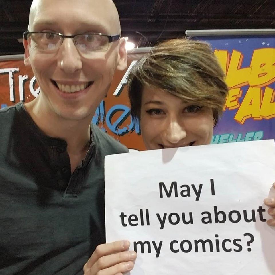 wizard world chicago, artist alley, comic con, comics, indie comics, writer, trevor mueller