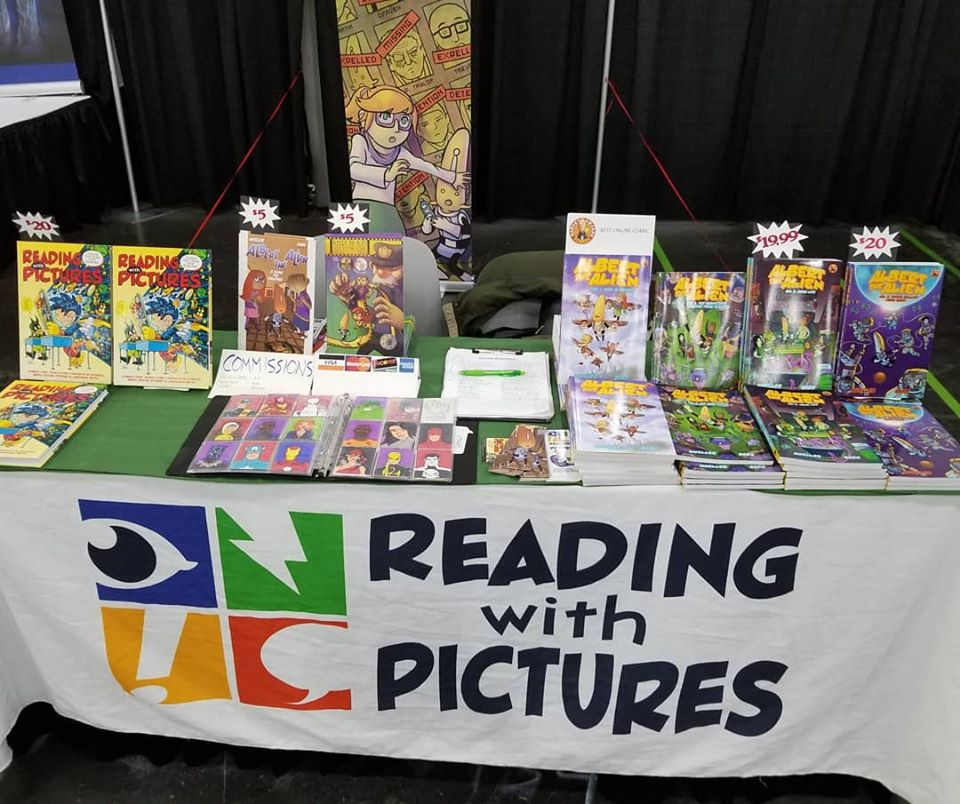 new york comic con, nycc, artist alley, reading with pictures,
